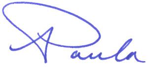 Paula Land signature