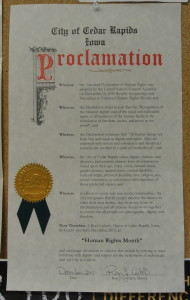 Human Rights Month proclamation