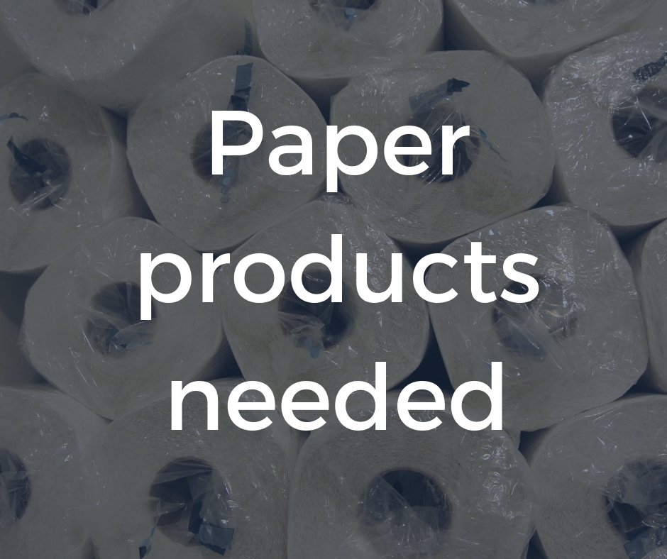 Paper products needed